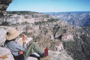 Jim at the overlook of Copper Canyon