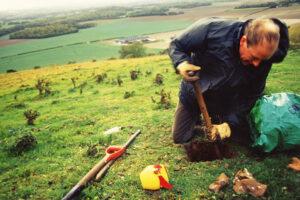 Sebastian digging