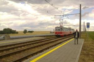 Belarus, Mazyr 2015-06-22 Pianki Tram Station
